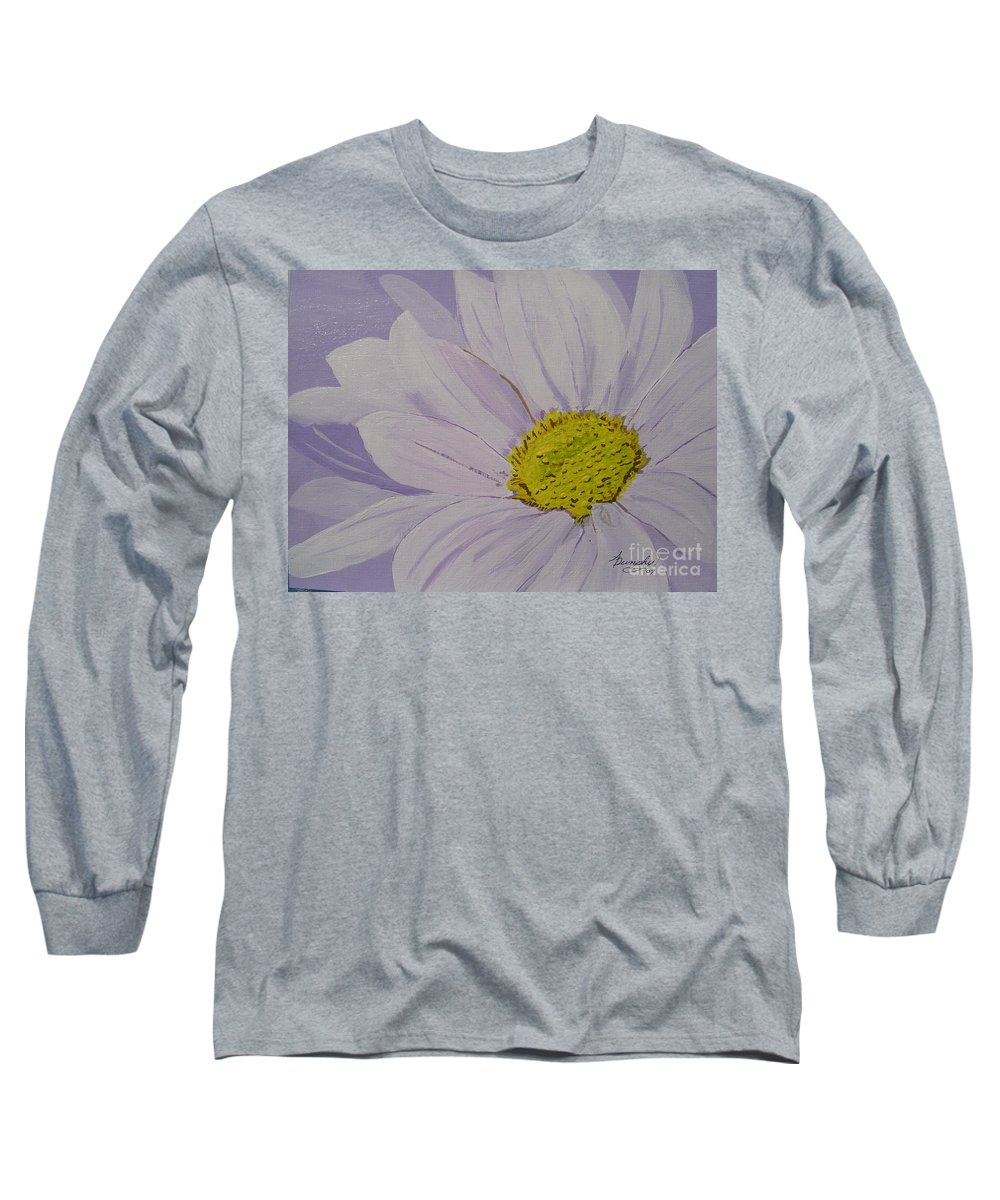 Daisy Long Sleeve T-Shirt featuring the painting Daisy by Anthony Dunphy
