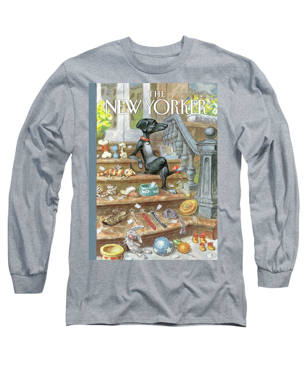 Urbane Long Sleeve T-Shirt featuring the painting Tag Sale by Peter de Seve