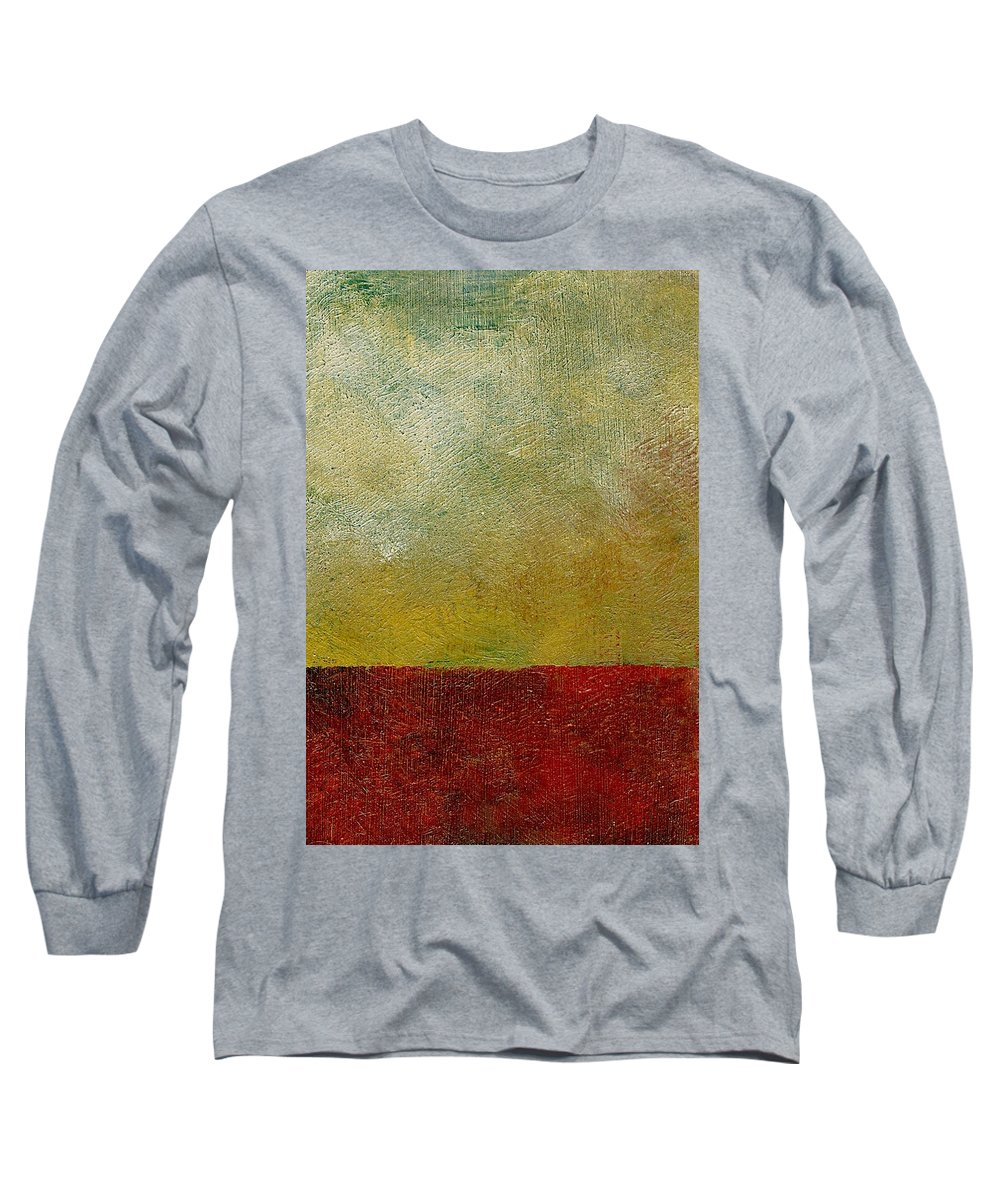 Abstract Landscape Long Sleeve T-Shirt featuring the painting Earth Study One by Michelle Calkins