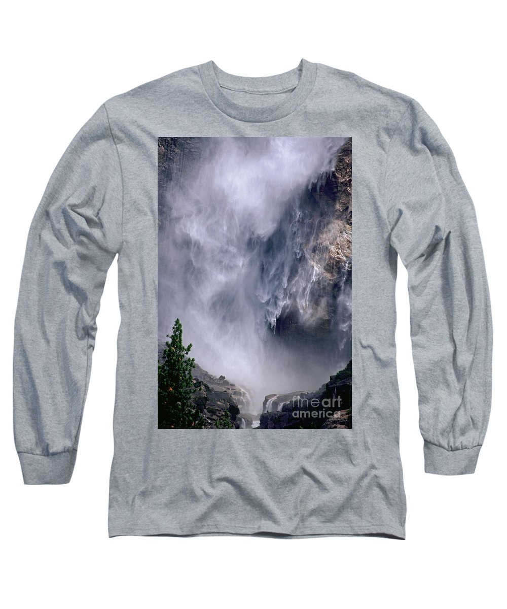 Waterfall Long Sleeve T-Shirt featuring the photograph Falling Water by Kathy McClure