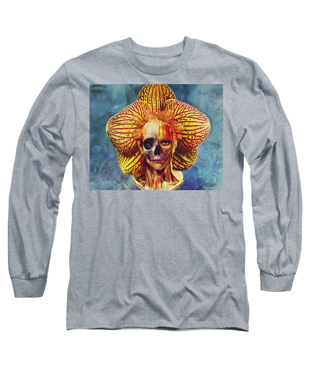 Surreal Long Sleeve T-Shirt featuring the digital art Fantastical Anatomy2 by Michael Volpicelli