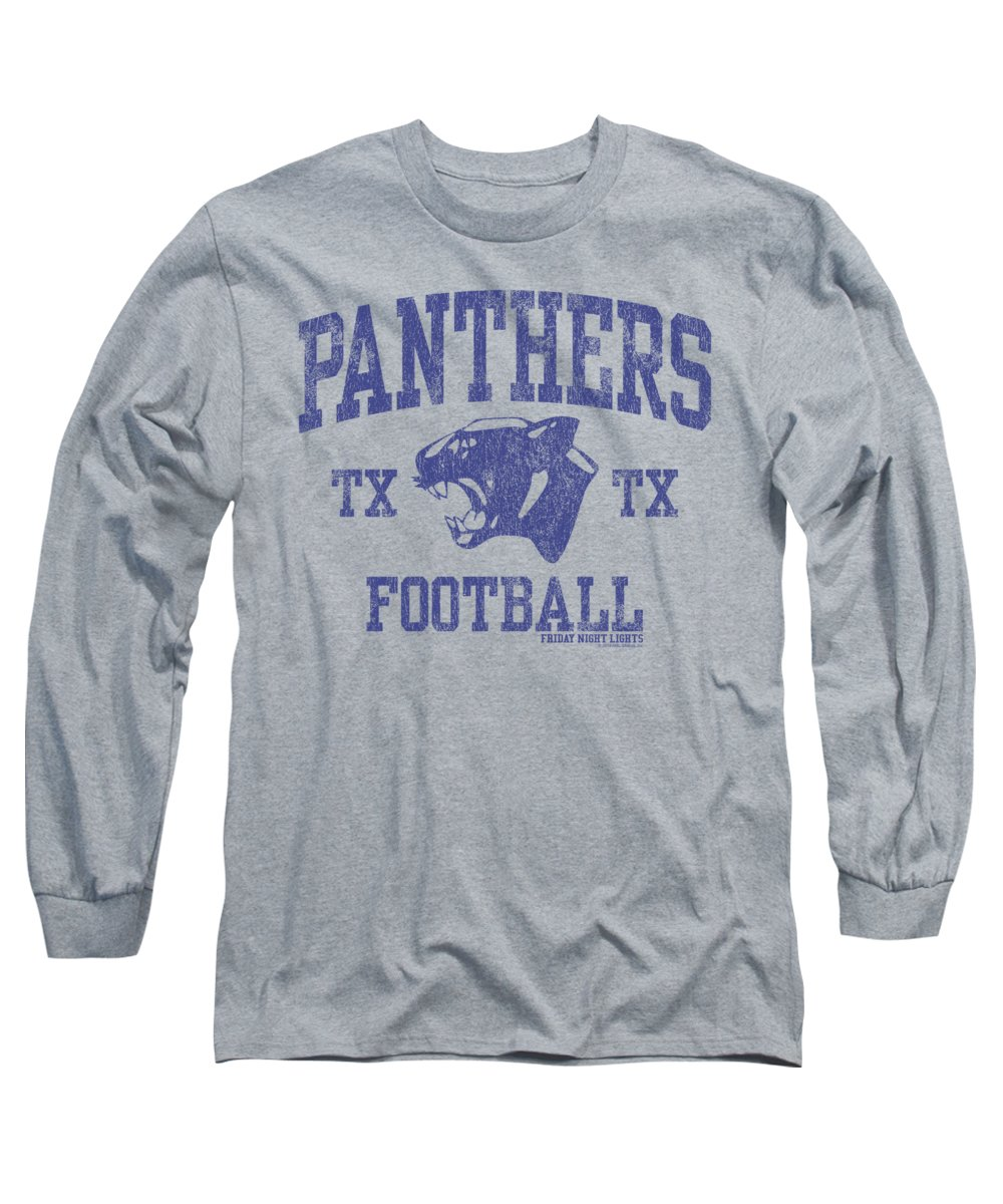Friday Night Lights Long Sleeve T-Shirt featuring the digital art Friday Night Lights - Panther Arch by Brand A