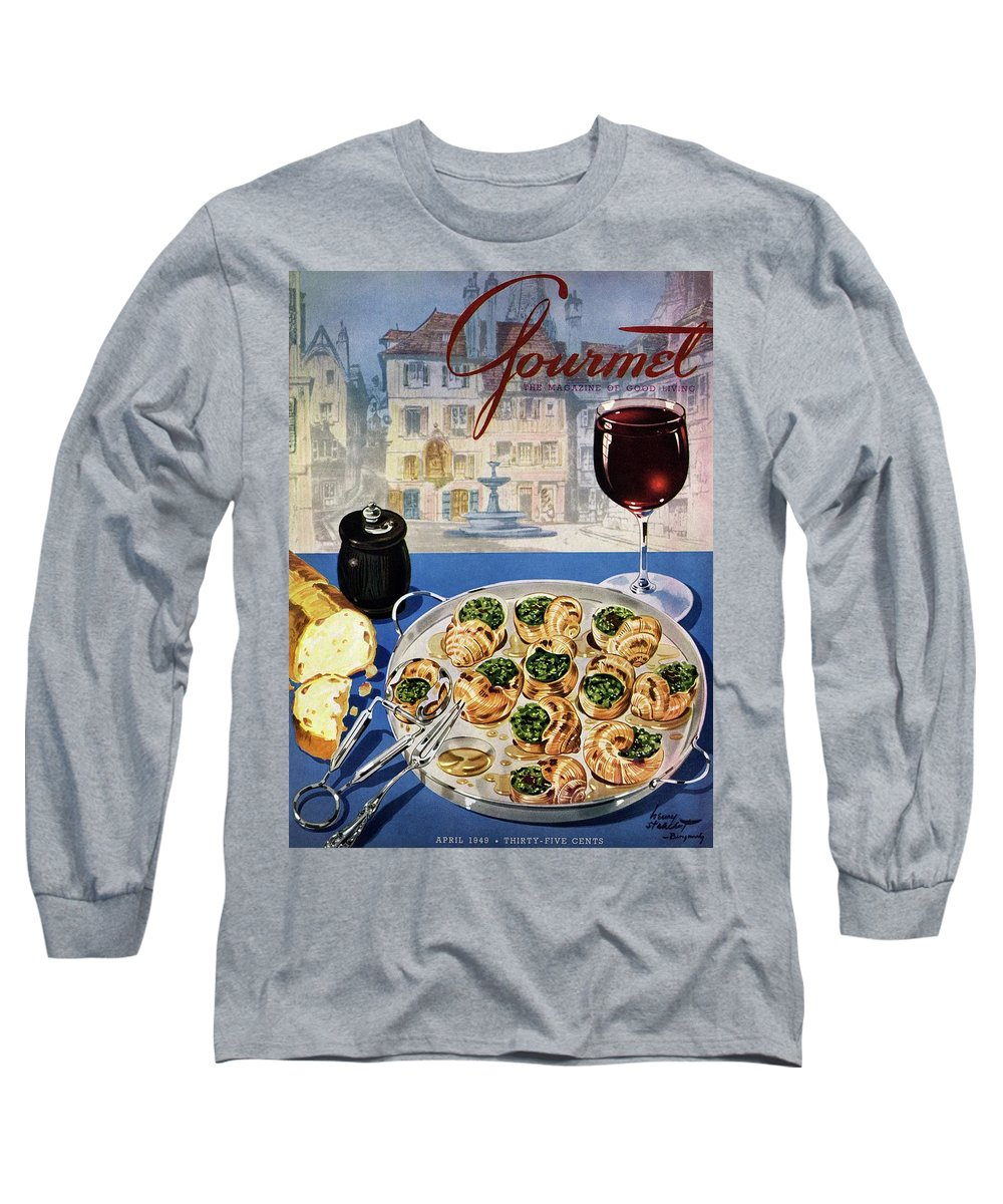 Food Long Sleeve T-Shirt featuring the photograph Gourmet Cover Illustration Of A Platter by Henry Stahlhut