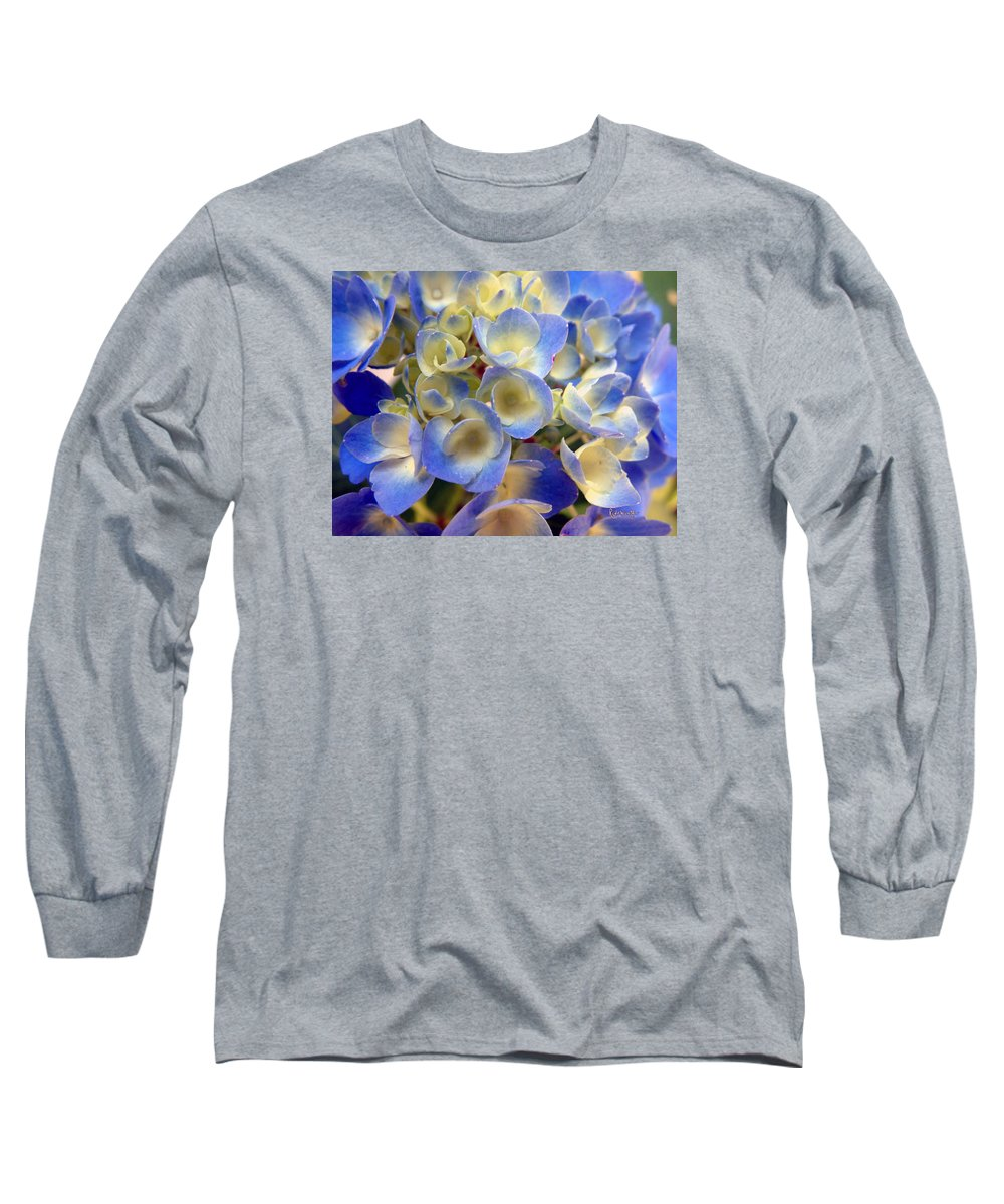 Floral Long Sleeve T-Shirt featuring the photograph Heavenly Blues by RC deWinter