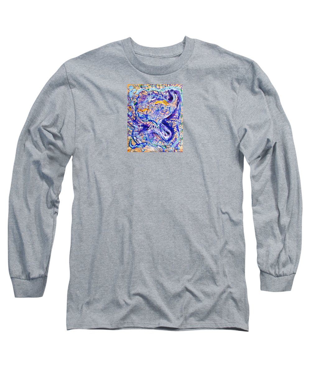 Inspirational Long Sleeve T-Shirt featuring the painting I Am Creativity by Paul Carter
