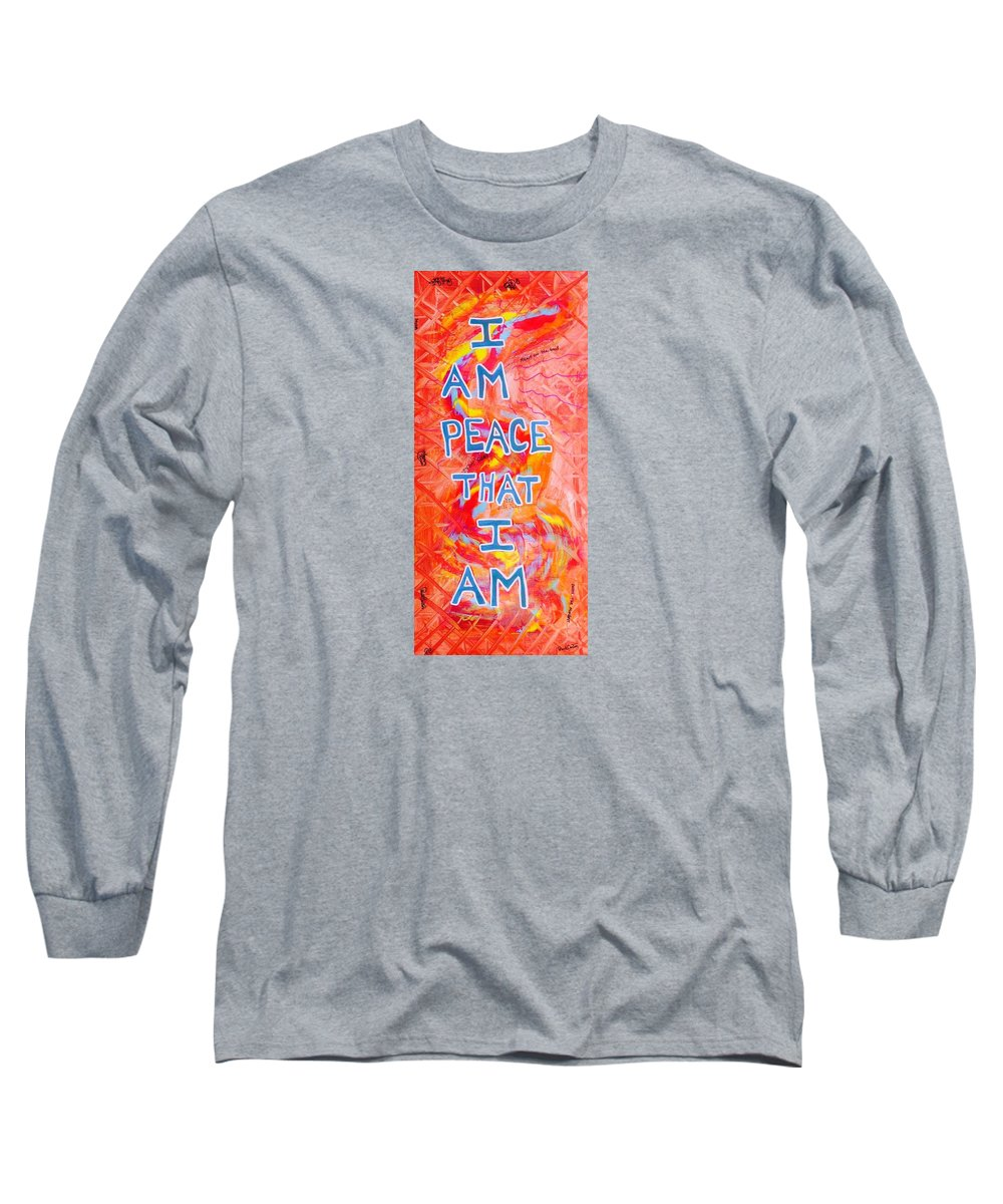 Iampeace Long Sleeve T-Shirt featuring the painting I Am Peace by Paul Carter