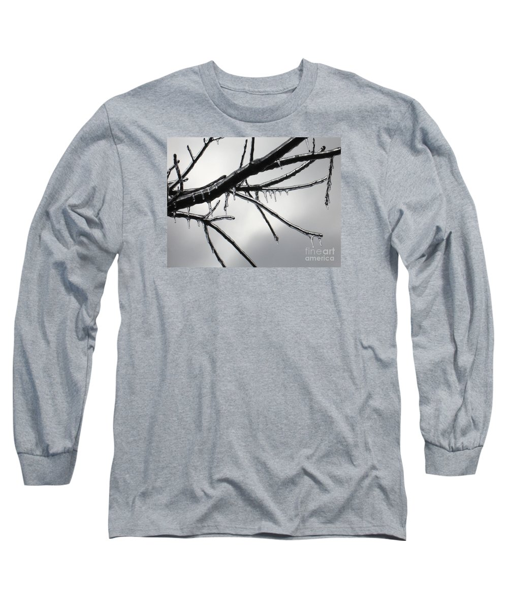 Winter Long Sleeve T-Shirt featuring the photograph Iced Tree by Ann Horn