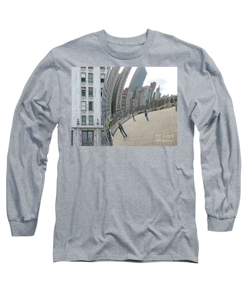 Chicago Long Sleeve T-Shirt featuring the photograph Imaging Chicago by Ann Horn