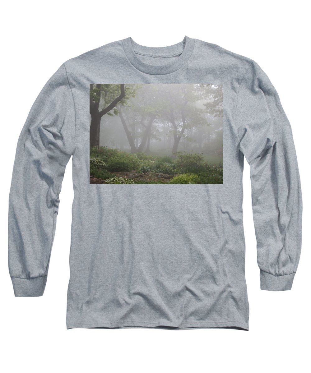 Fog Long Sleeve T-Shirt featuring the photograph In The Garden by Alison Gimpel
