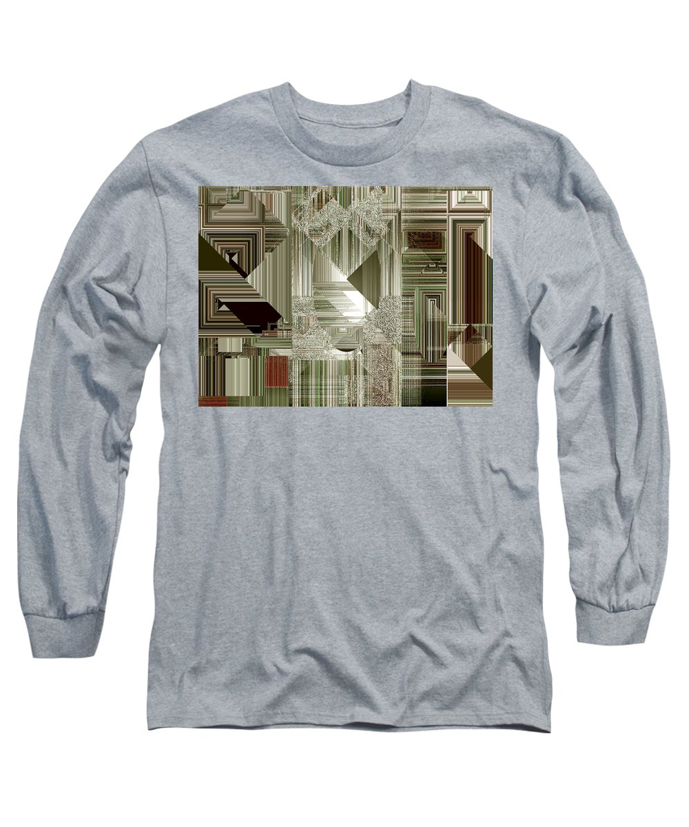 Abstract Long Sleeve T-Shirt featuring the painting Indecision I by RC deWinter