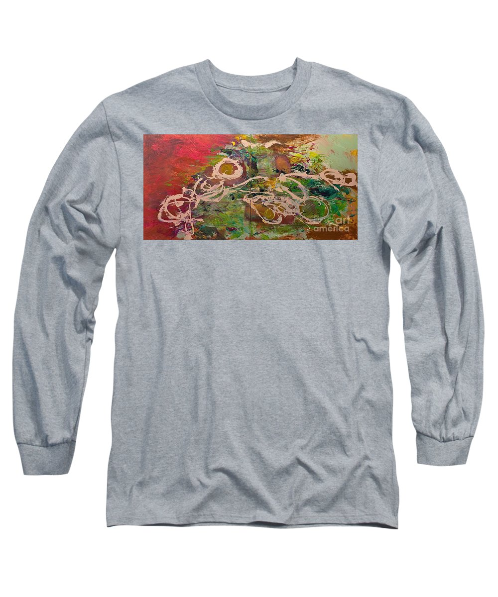 Landscape Long Sleeve T-Shirt featuring the painting Journey Forth by Allan P Friedlander