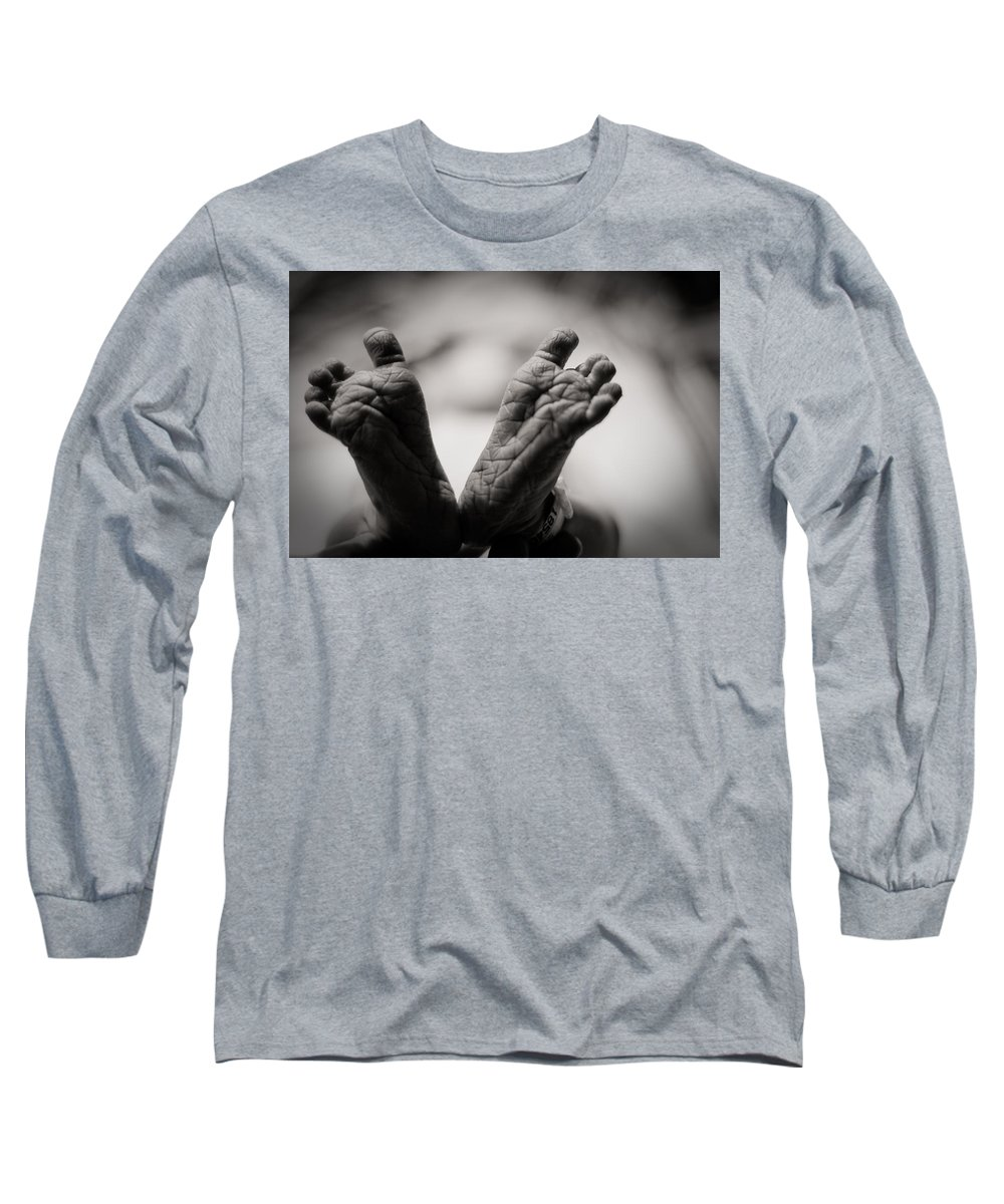 3scape Photos Long Sleeve T-Shirt featuring the photograph Little Feet by Adam Romanowicz