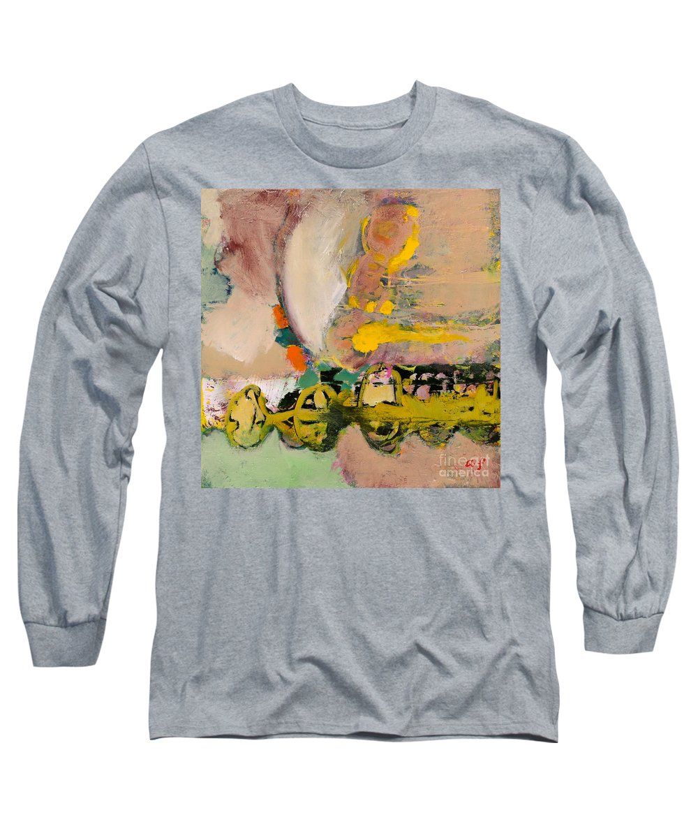 Landscape Long Sleeve T-Shirt featuring the painting Locomotion by Allan P Friedlander