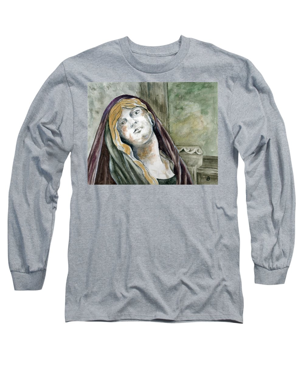 Portrait Long Sleeve T-Shirt featuring the painting Longing by Brenda Owen