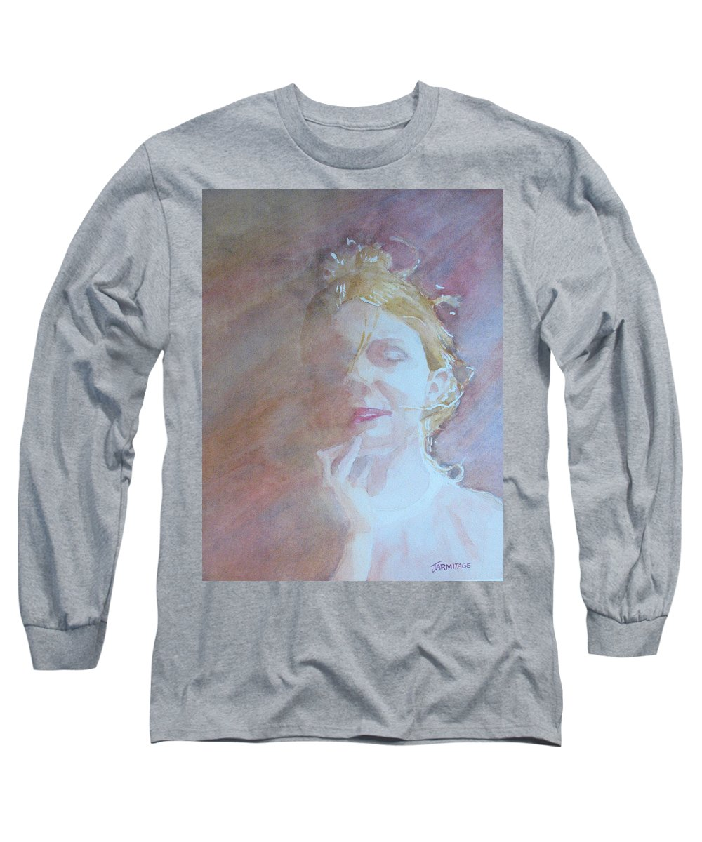 Romance Long Sleeve T-Shirt featuring the painting Memories Of Romance by Jenny Armitage