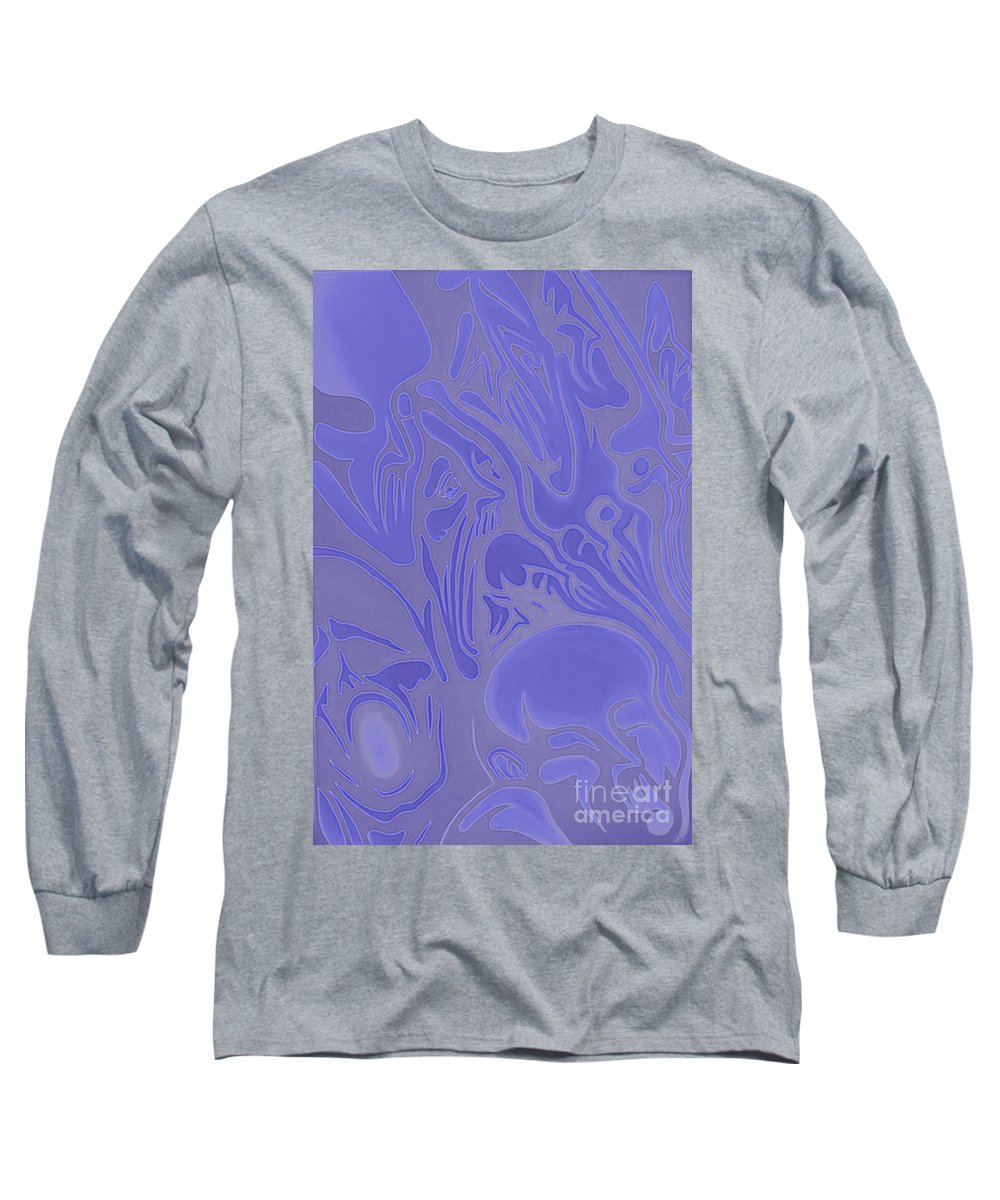Neon Intensity Long Sleeve T-Shirt featuring the painting Neon Intensity by Michael TMAD Finney
