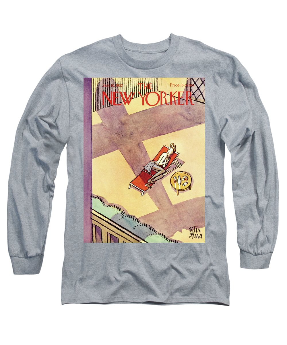 Illustration Long Sleeve T-Shirt featuring the painting New Yorker July 10 1937 by Peter Arno