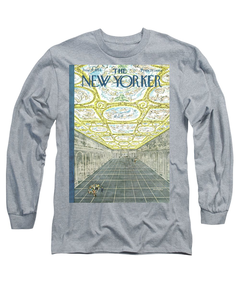 Anatole Kovarsky Ako Long Sleeve T-Shirt featuring the painting New Yorker June 27th, 1964 by Anatol Kovarsky