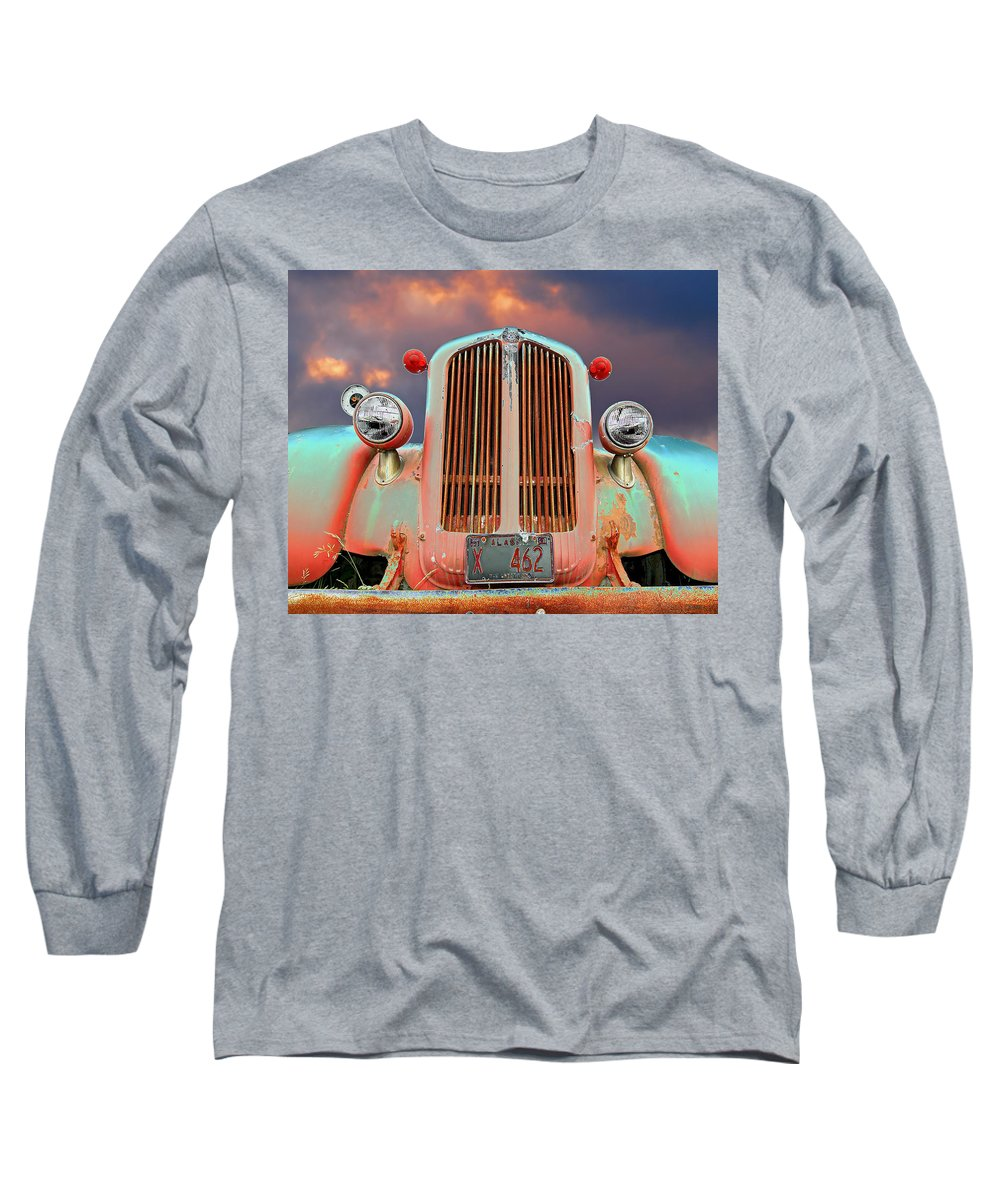 Truck Long Sleeve T-Shirt featuring the photograph Old Firefighter by Ron Day