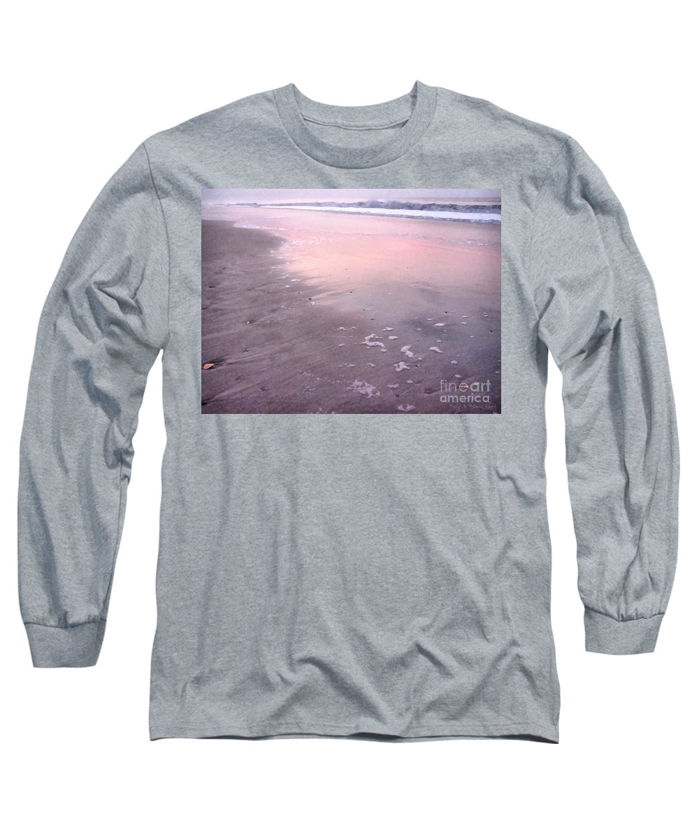 Landscape Long Sleeve T-Shirt featuring the photograph Pastel Beach by Todd A Blanchard