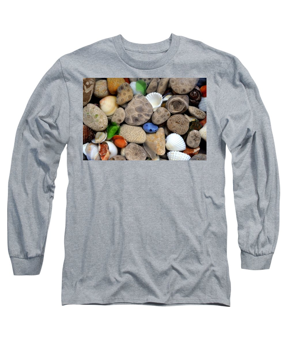 Stone Long Sleeve T-Shirt featuring the photograph Petoskey Stones Lll by Michelle Calkins