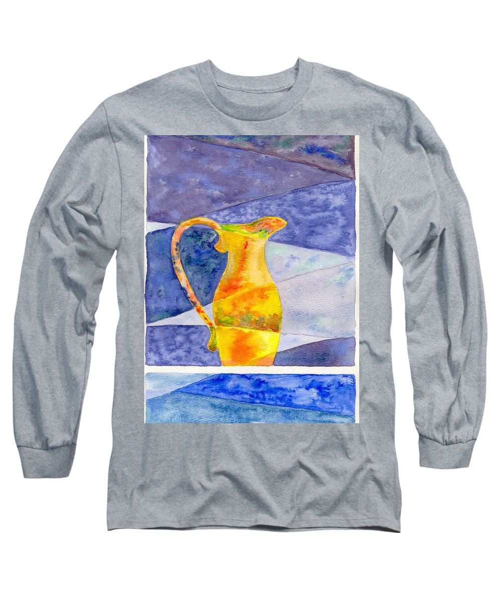 Still Life Long Sleeve T-Shirt featuring the painting Pitcher 1 by Micah Guenther