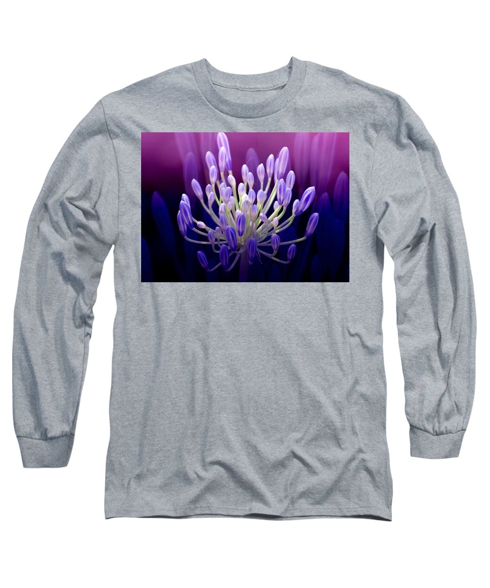 Agapanthus Long Sleeve T-Shirt featuring the photograph Praise by Holly Kempe
