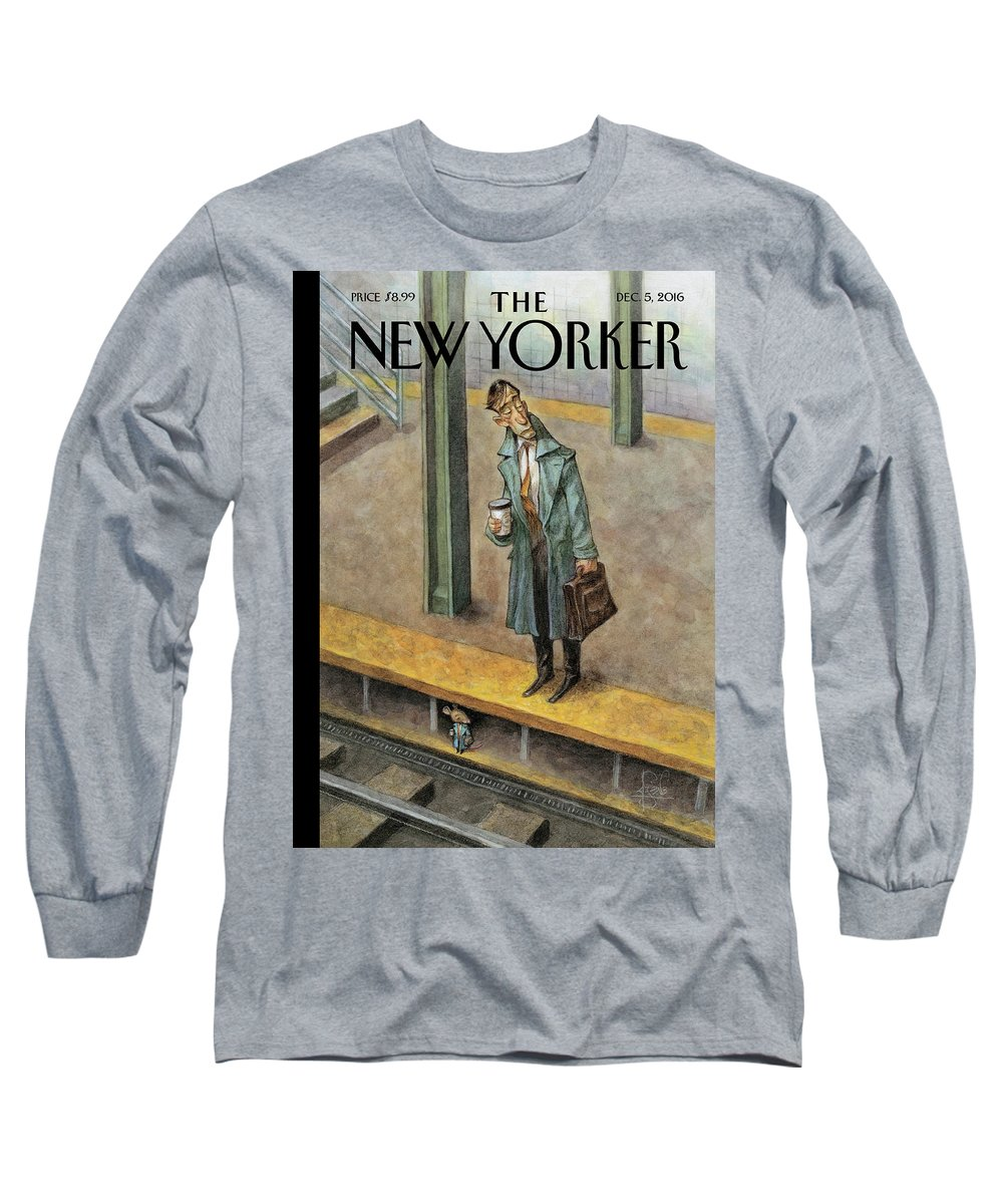Mice Long Sleeve T-Shirt featuring the painting Rat Race by Peter de Seve