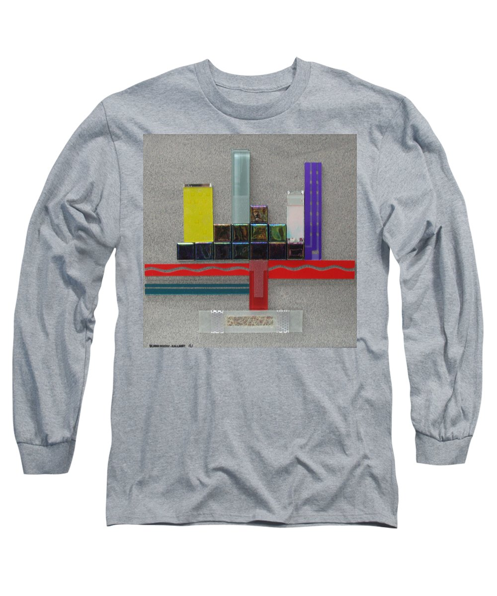 Assemblage Long Sleeve T-Shirt featuring the relief Red River City by Elaine Booth-Kallweit