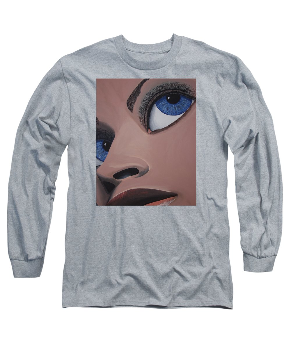 Eye Catching Long Sleeve T-Shirt featuring the painting SHE by Dean Stephens