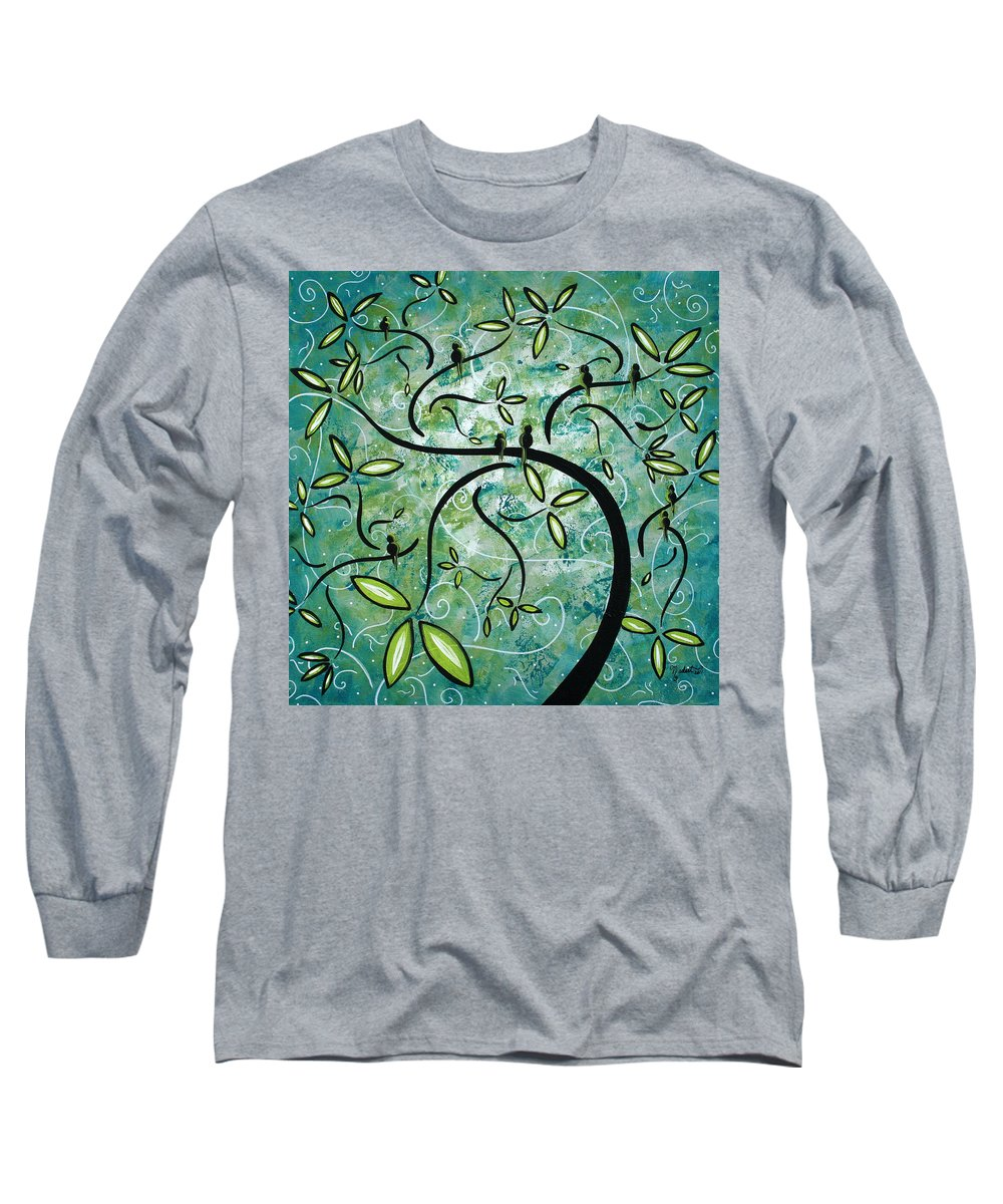 Wall Long Sleeve T-Shirt featuring the painting Spring Shine By Madart by Megan Duncanson