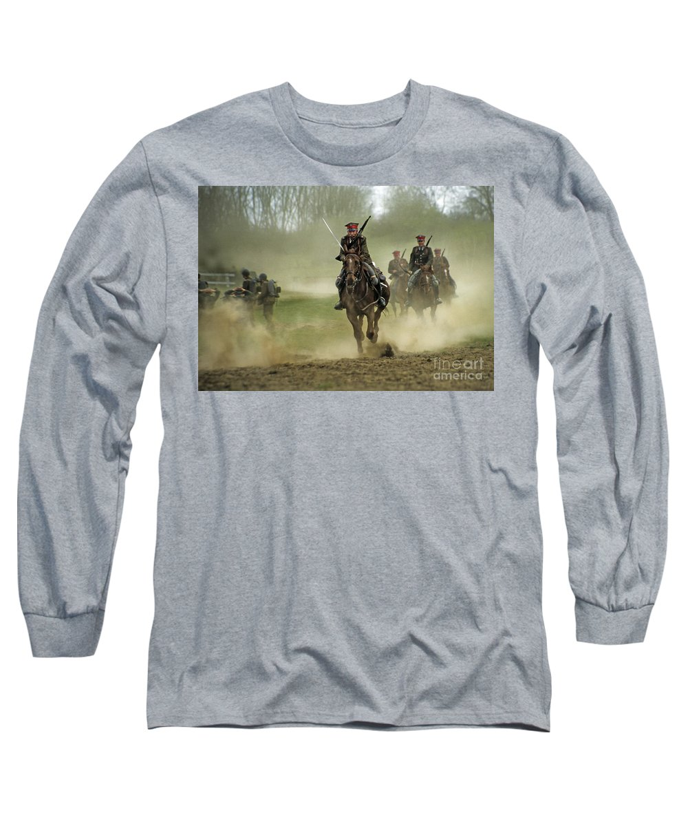 Cavalry Long Sleeve T-Shirt featuring the photograph The Battle by Angel Tarantella