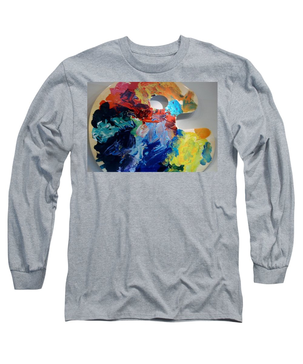 Abstract Long Sleeve T-Shirt featuring the photograph The Palet by Rob Hans