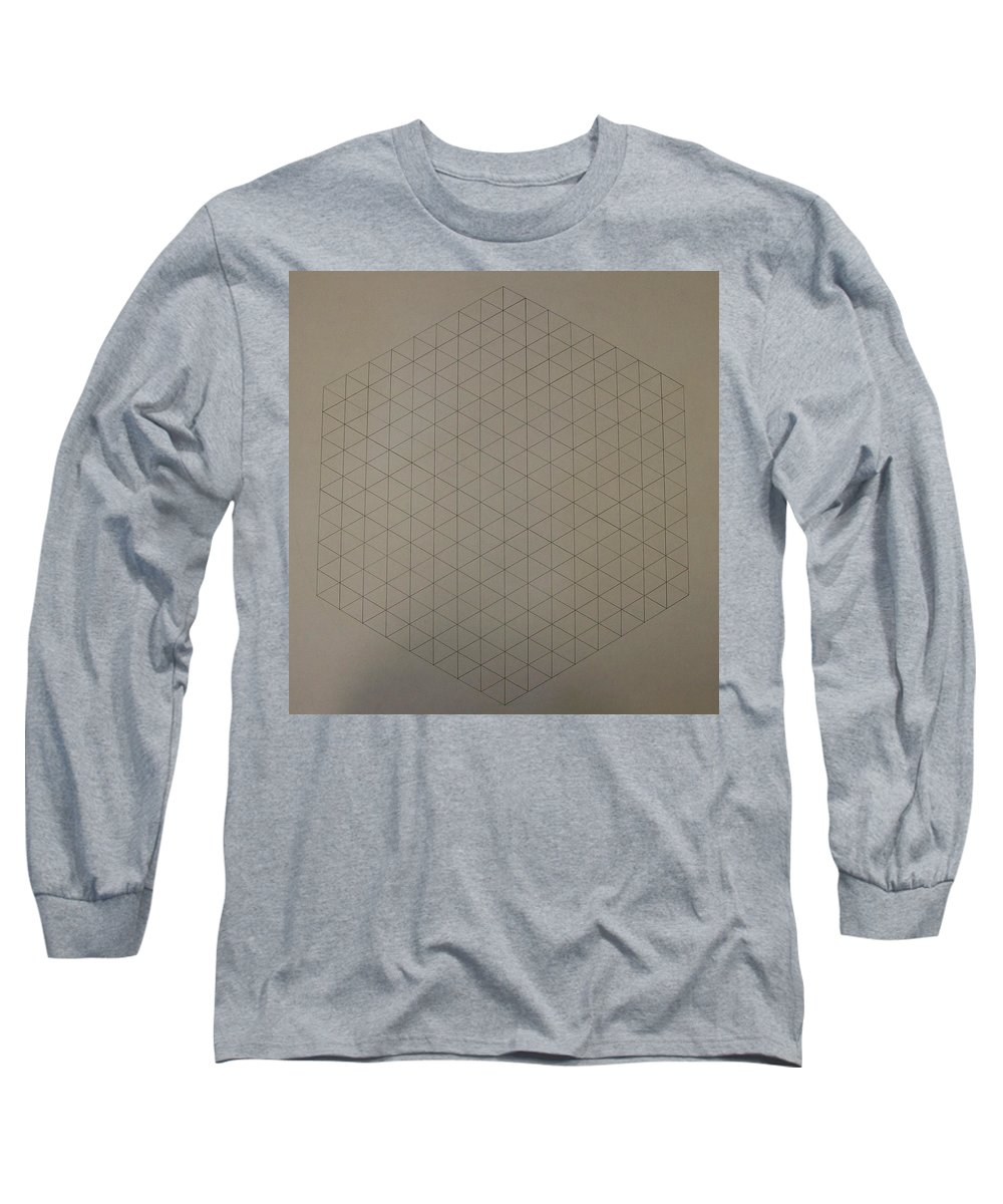 Math Long Sleeve T-Shirt featuring the drawing Two To The Power Of Nine Or Eight Cubed by Jason Padgett