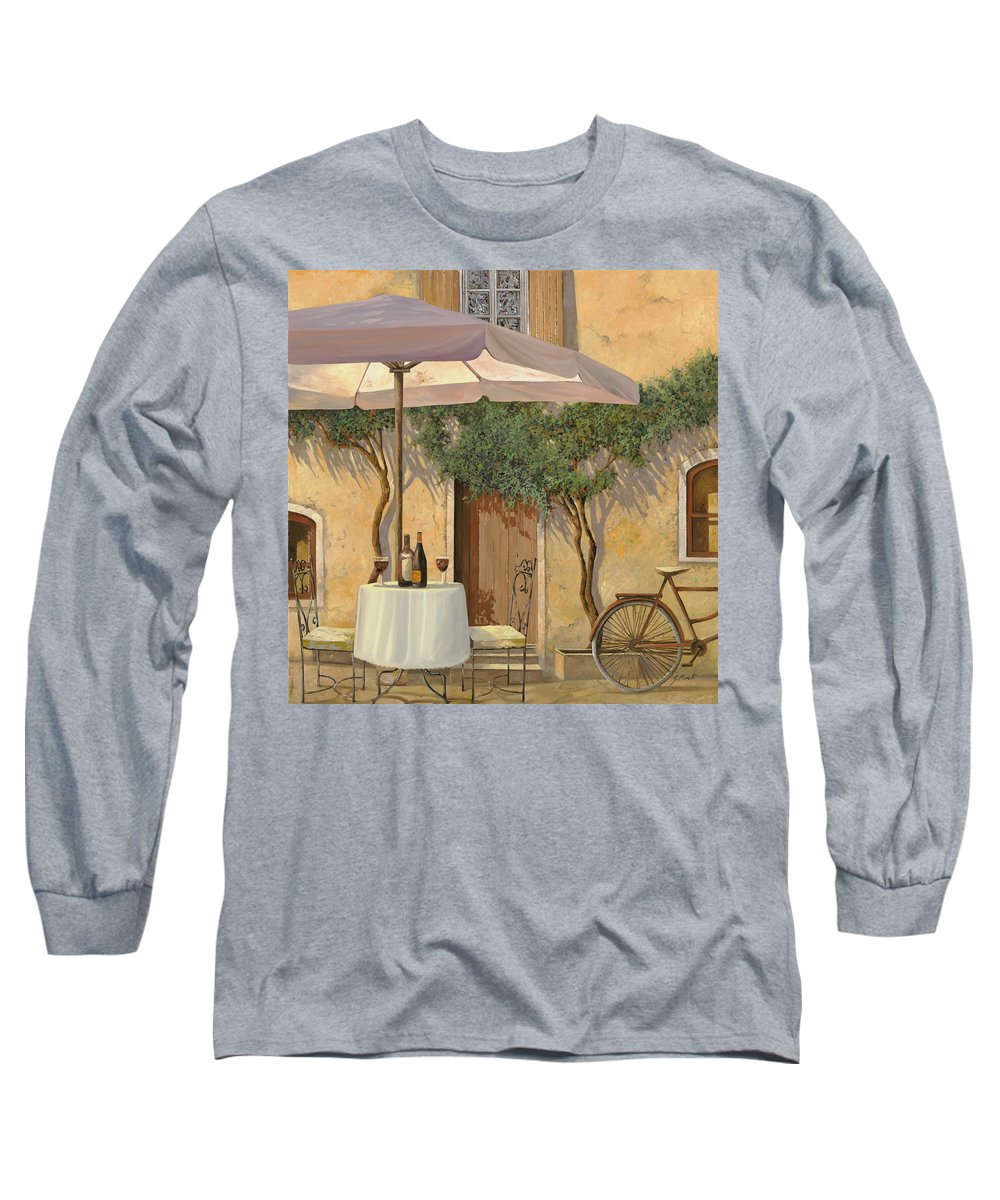Courtyard Long Sleeve T-Shirt featuring the painting Un Ombra In Cortile by Guido Borelli