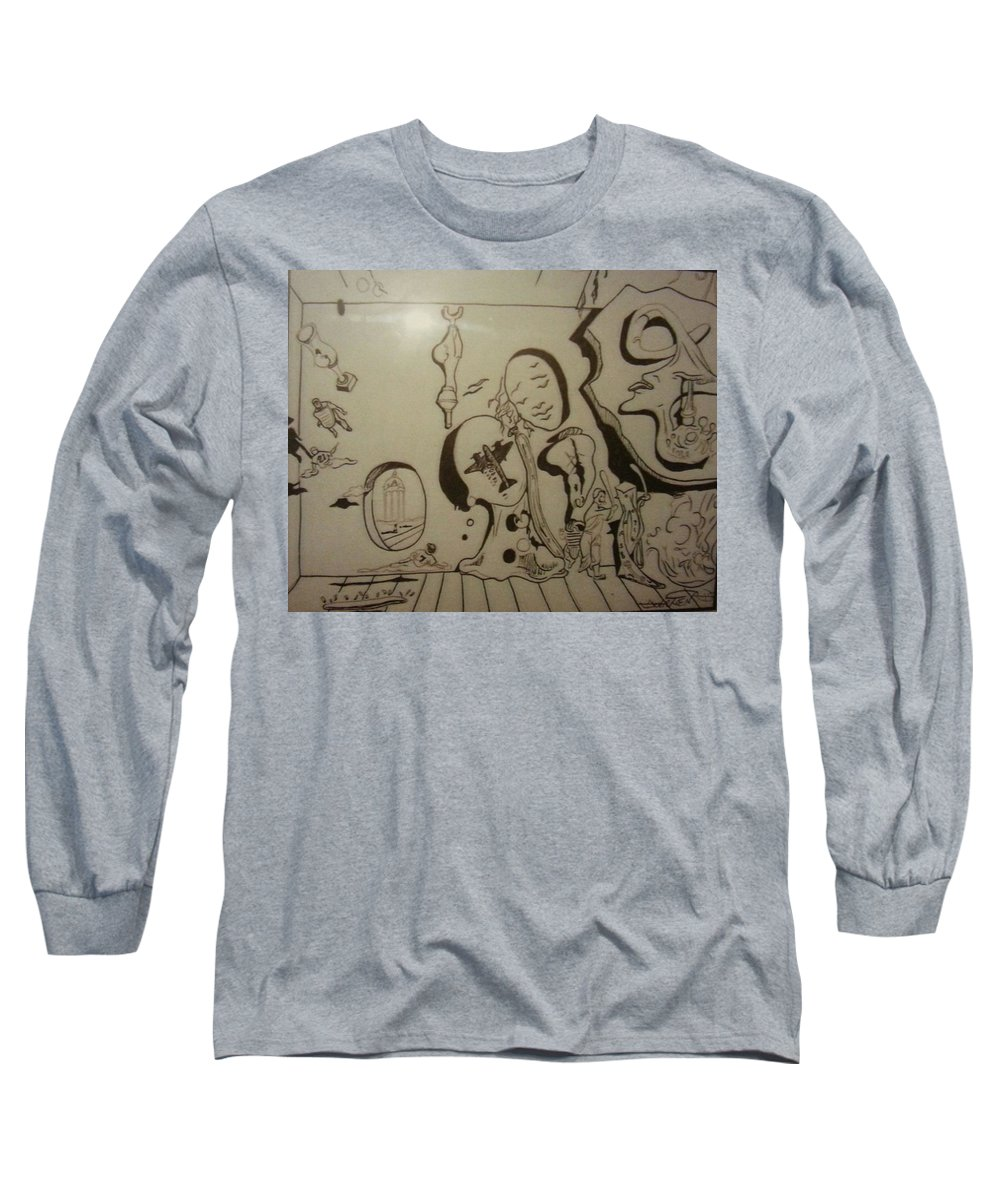 Long Sleeve T-Shirt featuring the drawing Untitled by Jude Darrien