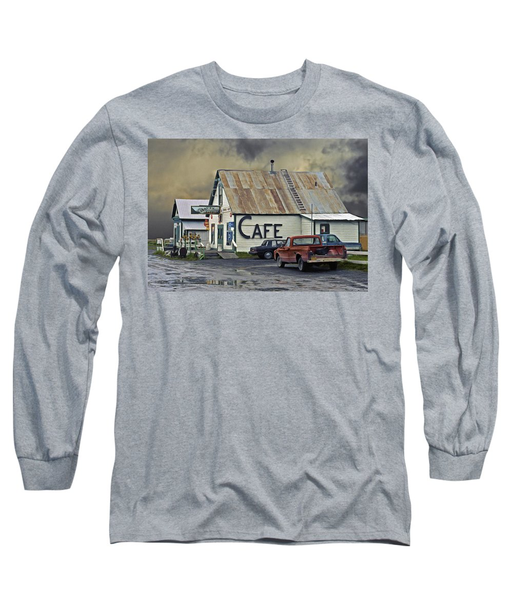 Alaska Long Sleeve T-Shirt featuring the photograph Vintage Alaska Cafe by Ron Day