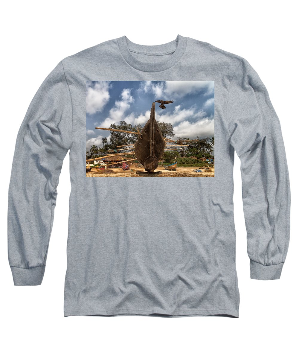 Asia Long Sleeve T-Shirt featuring the photograph Visitor by Stelios Kleanthous