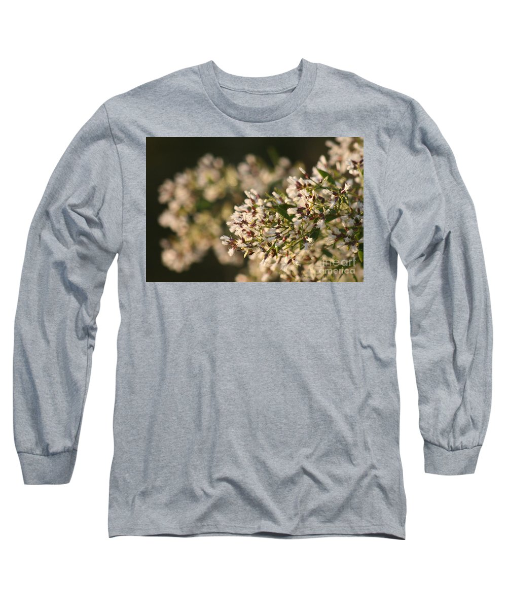 White Long Sleeve T-Shirt featuring the photograph White Flowers by Nadine Rippelmeyer