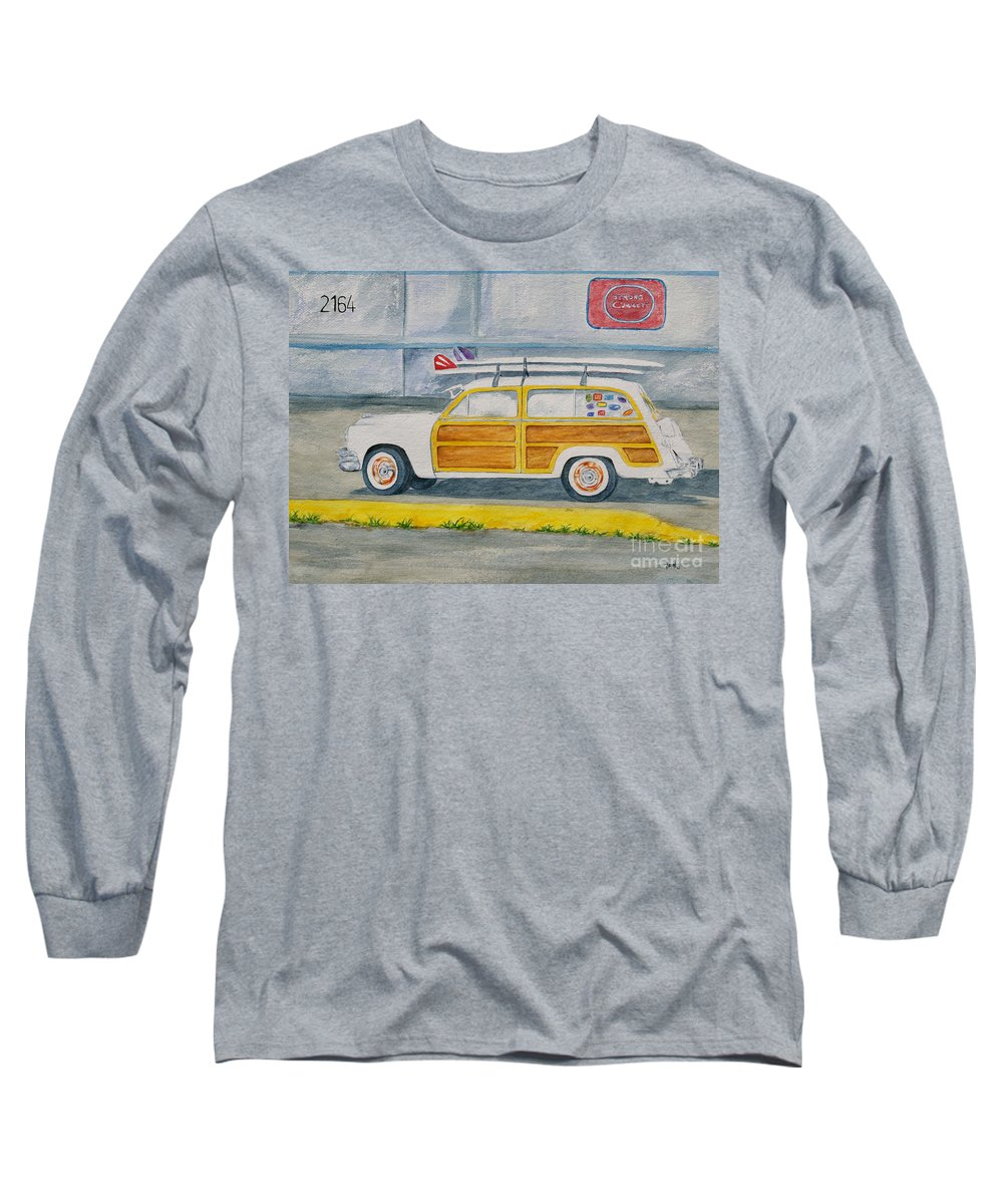 Woody Paintings Long Sleeve T-Shirt featuring the painting Woody by Regan J Smith