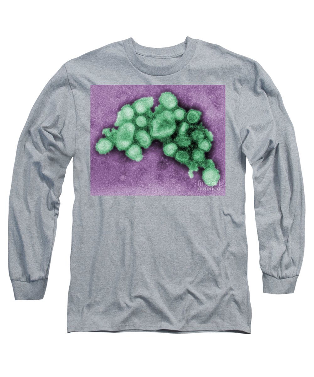 Influenza Long Sleeve T-Shirt featuring the photograph Swine Flu Virus by Science Source