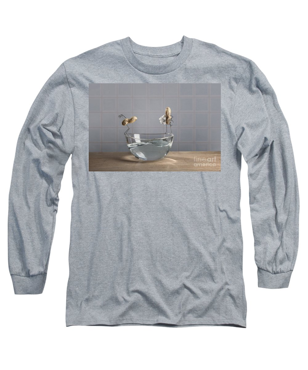 Pool Long Sleeve T-Shirt featuring the photograph Swimming Pool by Nailia Schwarz