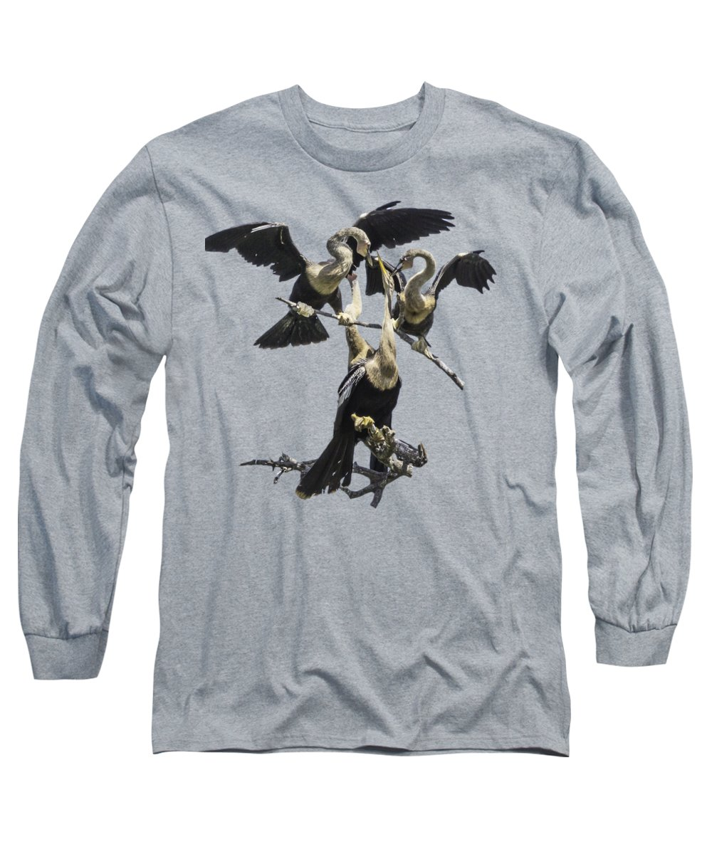 Anhinga Long Sleeve T-Shirts