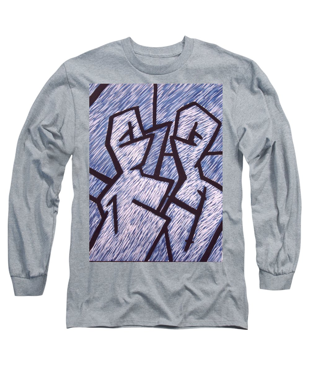 Painting Long Sleeve T-Shirt featuring the painting Friends by Thomas Valentine