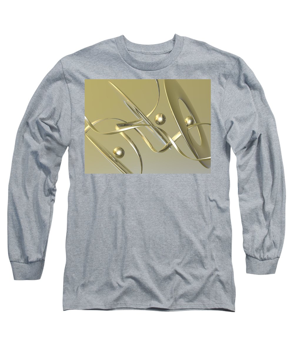Scott Piers Long Sleeve T-Shirt featuring the painting Gold by Scott Piers
