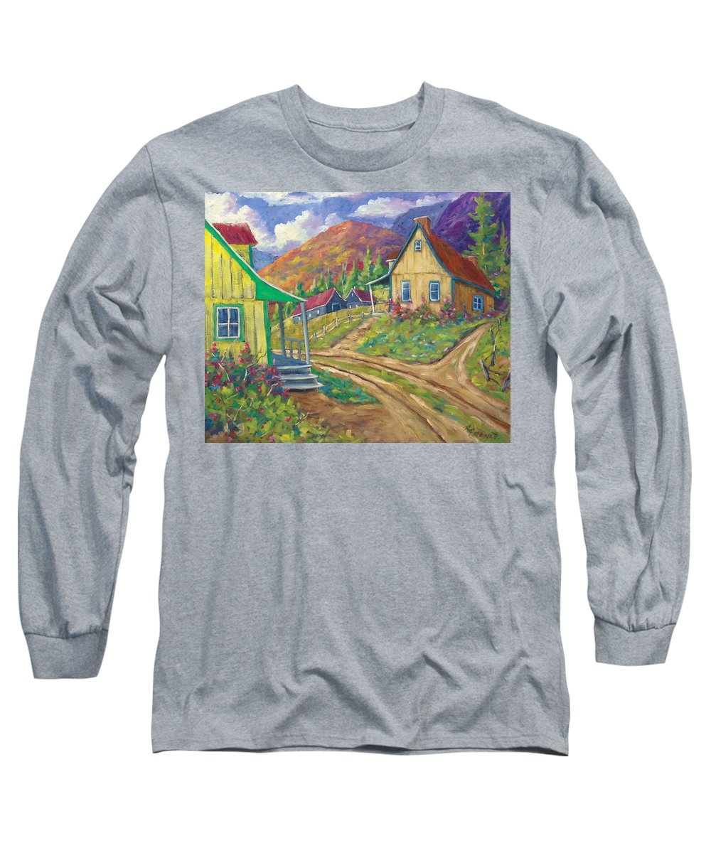 Art Long Sleeve T-Shirt featuring the painting House Of Louis by Richard T Pranke