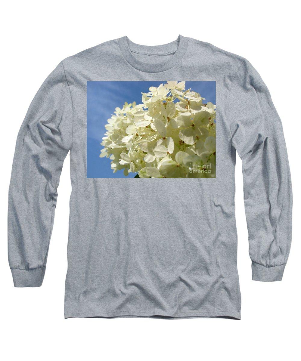Hydranga Long Sleeve T-Shirt featuring the photograph Hydrangea by Amanda Barcon