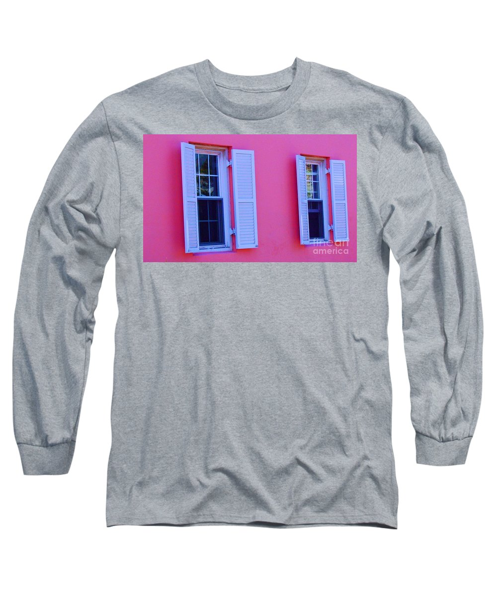 Shutters Long Sleeve T-Shirt featuring the photograph In The Pink by Debbi Granruth