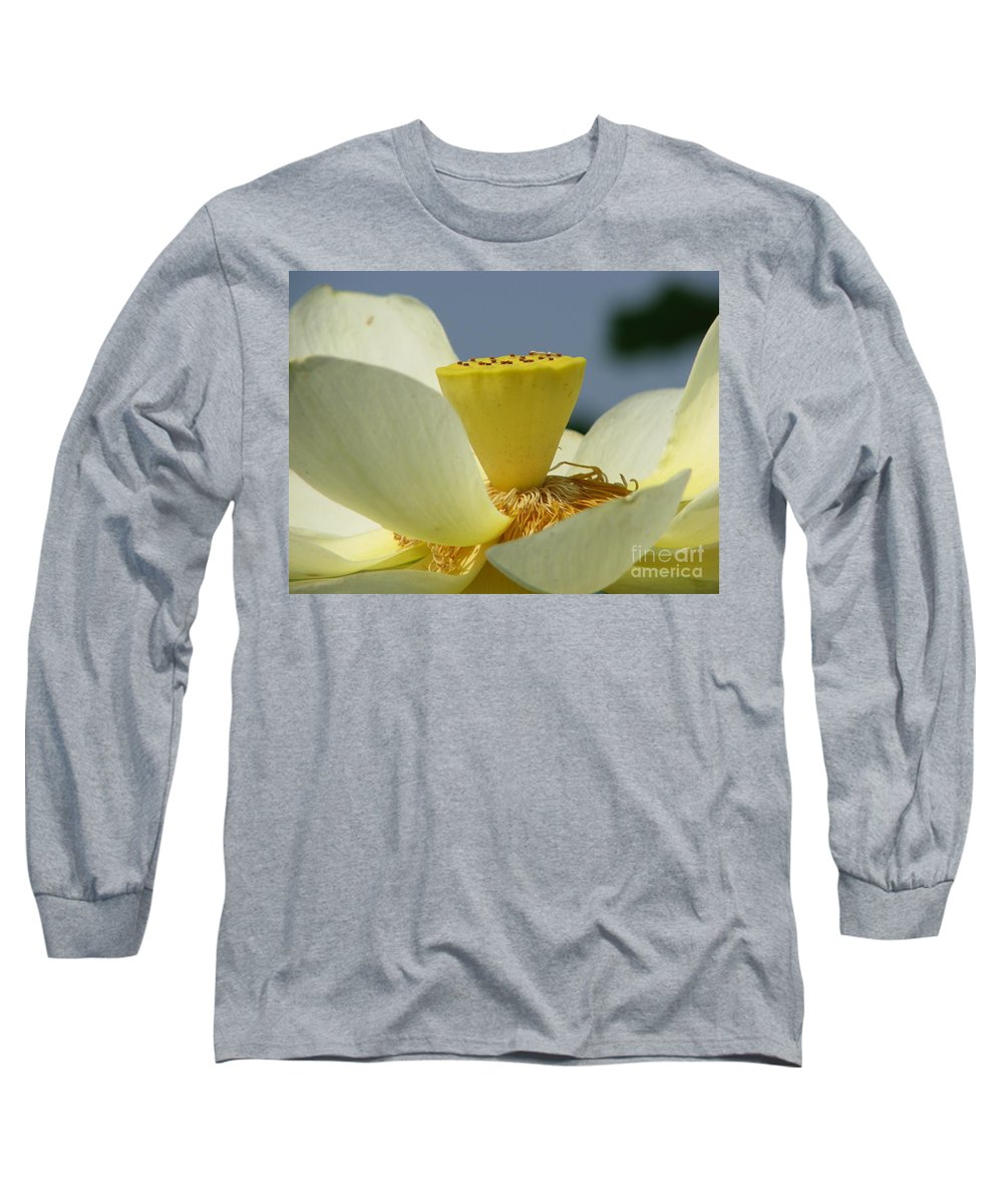 Lotus Long Sleeve T-Shirt featuring the photograph Lotus by Amanda Barcon