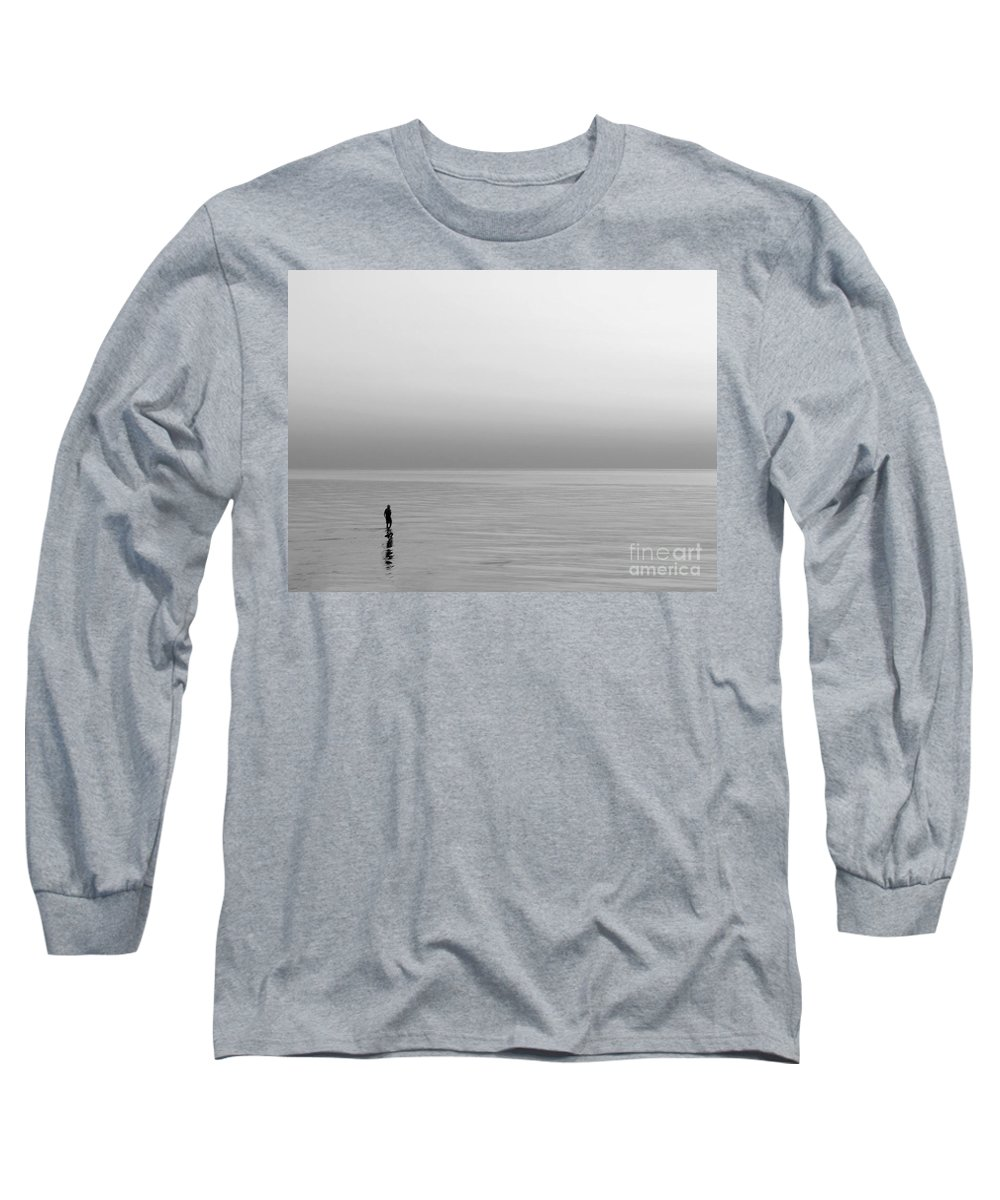 Lake Long Sleeve T-Shirt featuring the photograph One Man by Dana DiPasquale